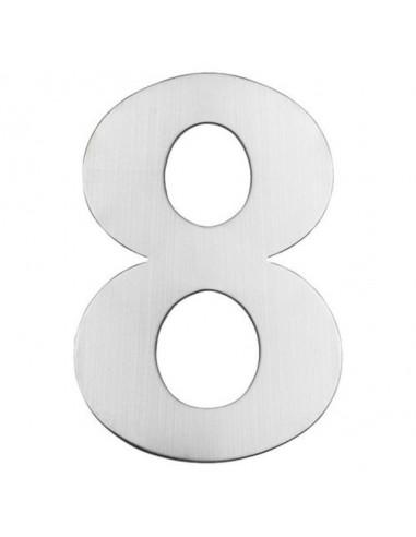Номер за входна врата Portaferm 8, неръждаема стомана, 15 см