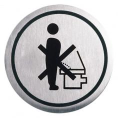 "Табела Portaferm ""WC"", неръждаема стомана, Ø6 см"