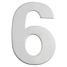 Номер за входна врата Portaferm 6, неръждаема стомана, 15 см