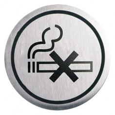 """Табела Portaferm """"Пушенето забранено"""", неръждаема стомана, Ø6 см"""