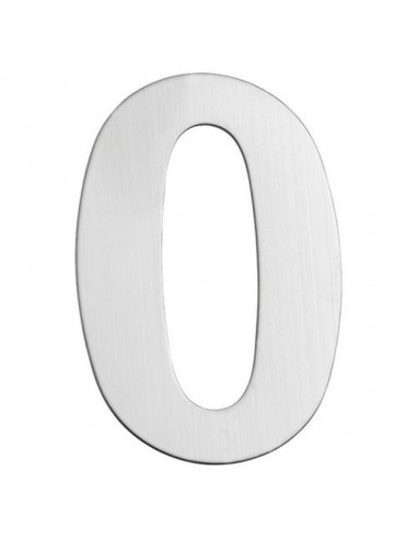 Номер за входна врата Portaferm 0, неръждаема стомана, 15 см