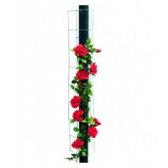 Обла решетка за увивни растения Bellissa, оребрена, 115 см