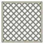 Декоративна дървена решетка - 180х180 см