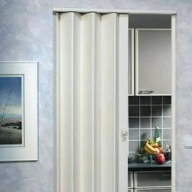 Сгъваема врата тип хармоника 83 x 205 см, бяла