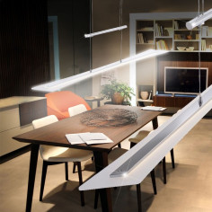 LED пендел Paul Neuhaus Meva - 23 W, 1420 lm, регулируема височина 100-160 см