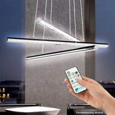 LED пендел Eglo Terros, 93572 - 3х9 W, 3x650 lm, хром, с дистанционно