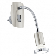 LED спот за контакт Mini 4 - 3 W, GU10, никел, мат
