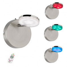 LED спот Wofi Shelton - 4 W, 400 lm, 3000 K, никел мат