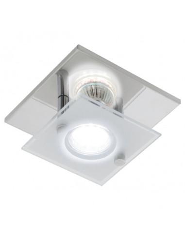 LED плафон Eglo Arborio 31327 - 3 W, 1xGU10, 240 lm, 3000 K, хром, сатен