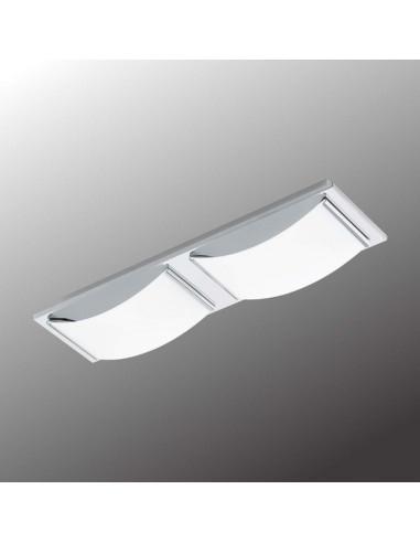 LED плафон Eglo Wasao 94466 - 2х5,4 W, 1020 lm, хром, бял