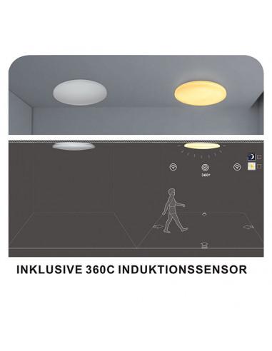 LED плафон Tween Light Todi - 30 W, Ø54 см, с индукционен сензор