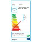 LED плафон Eglo Pernato 94588 - 9х3,3 W, 3330 lm, бял, сатен, прозрачен