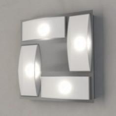 LED плафон Eglo Wasao 94468 - 4х5,4 W, 2040 lm, хром, бял