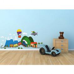 Imagén: Декоративен стикер Детски влак - 24х68 см