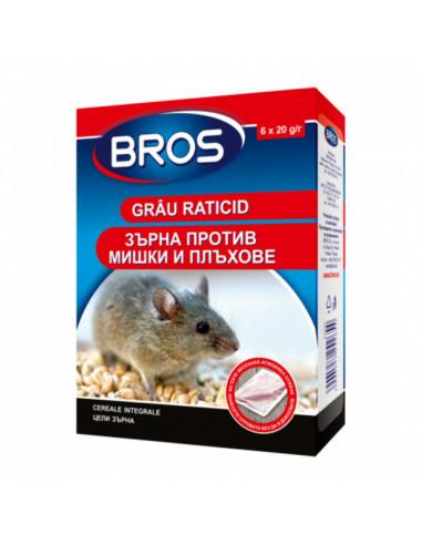 Отрова за мишки и плъхове БРОС - 120 г, зърна