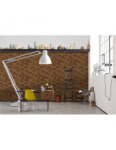 Флис тапет AS Creation Move Your Wall - 10,05х0,53 м, 3D-оптика, кафяв