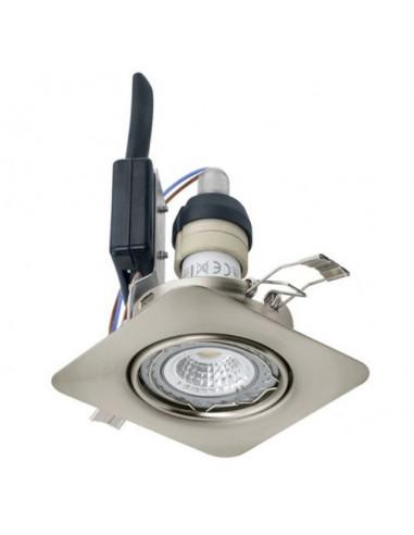 LED луни, 85x85 мм, подвижни, GU10, 5 W, никел мат, 3 броя