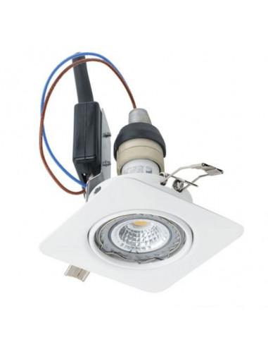 LED луни, 85x85 мм, подвижни, GU10, 5 W, бели, 3 броя