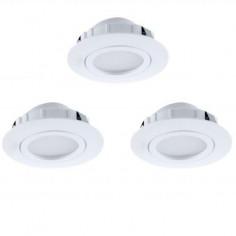LED луни, подвижни, бели, Ø84 мм, 6 W, 3 броя