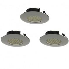 LED луни, Ø78 мм,IP44, 6 W, хром, 3 броя