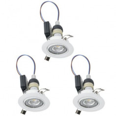 LED луни, Ø85 мм, подвижни, GU10, 5 W, бели, 3 броя