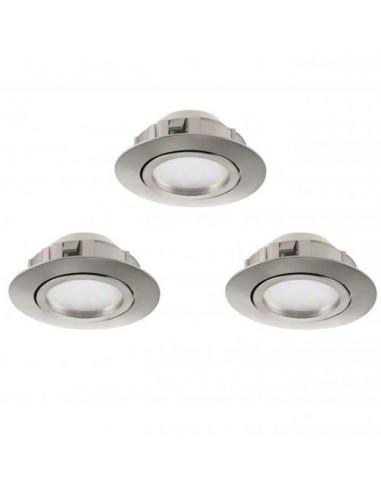 LED луни, Ø84 мм, GU10, 6 W, димируеми, 3 броя
