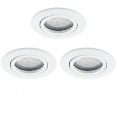 LED луни Tween Light, Ø80 мм, GU10, 5 W, 3 броя