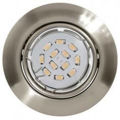 LED луни, Ø85 мм, подвижни, GU10, 5 W, никел мат, 3 броя