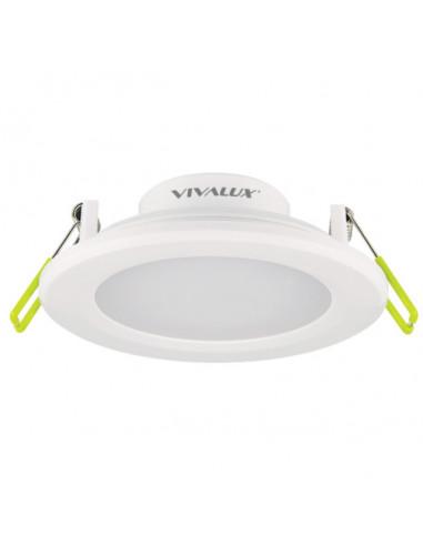 LED луна за вграждане Vivalux, бяла, Ø110 мм, 8 W