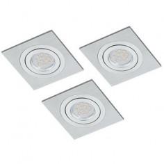 LED луни, 100x100 мм, подвижни, GU10, 5 W, 3 броя