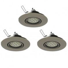 LED луни, Ø108 мм, подвижни, хром, 3 W, 3 броя
