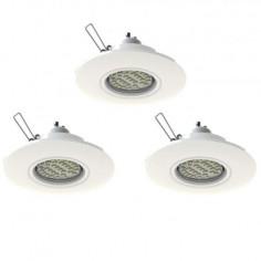 LED луни, Ø108 мм, подвижни, бяла, 3 W, 3 броя