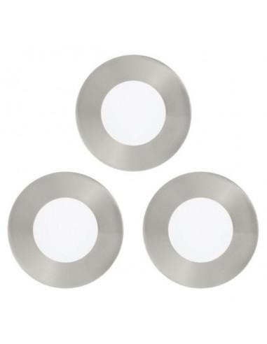 LED луни, Ø85 мм, 2,7 W, никел мат, 3 броя