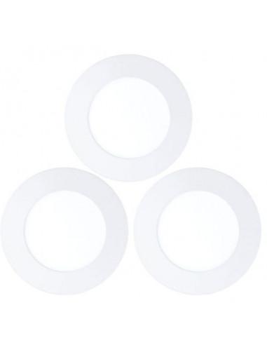 LED луни, Ø120 мм, 5,5 W, бели, 3 броя