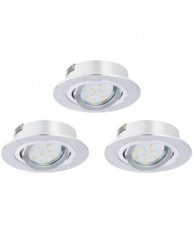 LED луни, Ø100 мм, подвижни, GU10, 5 W, 3 броя