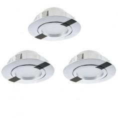 LED луни, подвижни, Ø84 мм, хром, 6 W, 3 броя