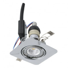 LED луни, 85x85 мм, подвижни, GU10, 5 W, хром, 3 броя