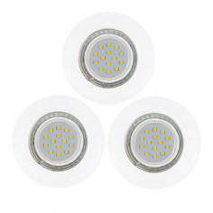LED луни Tween Light, Ø85 мм, GU10, 3 W, 3 броя