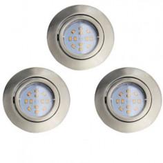 LED луни, 80x80 мм, подвижни, GU10, 5 W, никел мат, 3 броя
