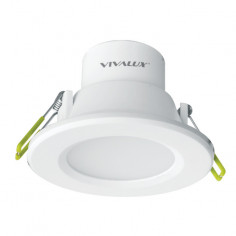 LED луна за вграждане Vivalux, бяла, Ø100 мм, 6 W