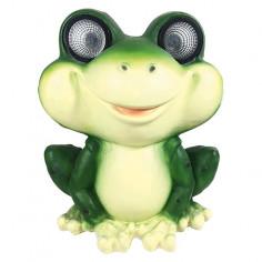 Соларна лампа - жаба 38 см, два светодиода