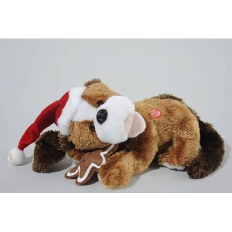 Коледно куче, 28 см, плюш, музикално