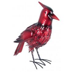 Соларна лампа - червена птичка височна 49 см, 4 светодиода