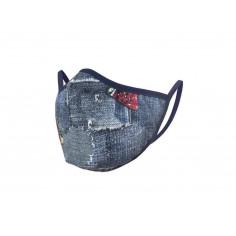 Защитна маска - имитация на дънков плат