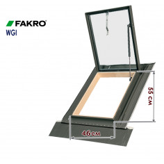 Imagén: Капандура Fakro WGI - 46 x 55 см - с газов амортисьор