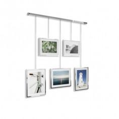 """Фотодисплей за монтаж на стена """"EXHIBIT"""" - цвят хром - UMBRA"""