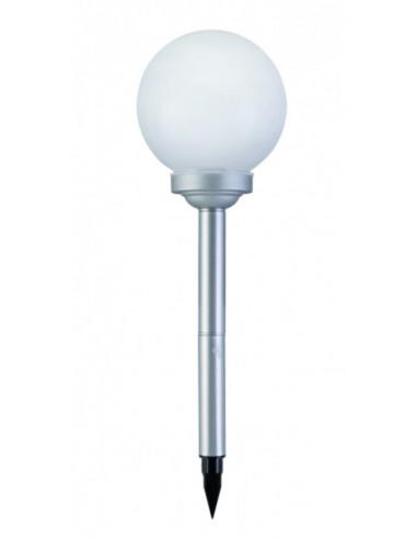 Соларна лампа - кръгла 20 см, бяла светлина