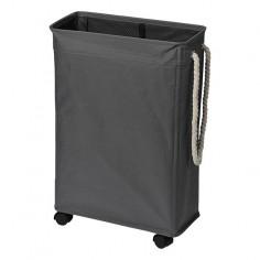 Кош за пране 19х60х40 см, с колелца в сив цвят