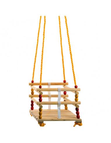Детска люлка от дърво - 30х30 см