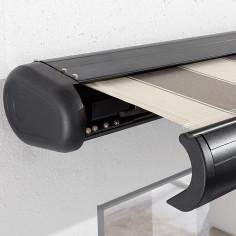 Imagén: Затворена касетъчна тента с чупещо рамо, 3.5х3 м, бежово-сив, с дистанционно управление